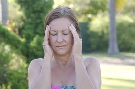 nice woman with migraine