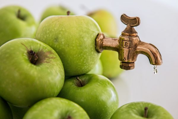 Diluted apple juice, preferred fluids for treating mild gastroenteritis in kids